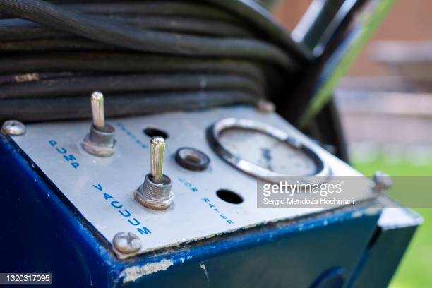 close up of an industrial vacuum cleaner used for cleaning homes by a professional service - industrial hose stock pictures, royalty-free photos & images
