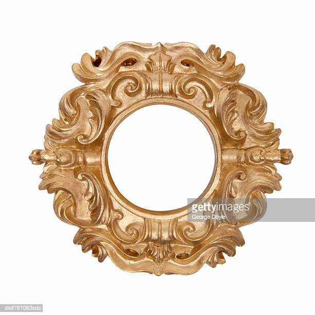 Close up of an ornate picture frame