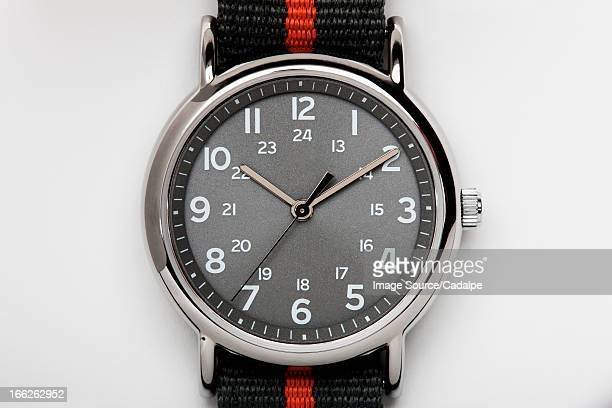 Close up of analog watch