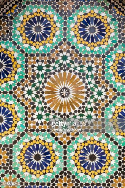 close up of ancient tile mosaic - mosaic stock pictures, royalty-free photos & images