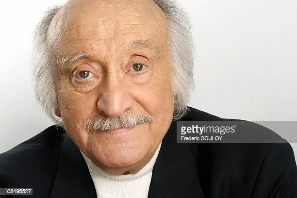 Close up of Andre Gaillard on the set of 'Les Grands du rire' in ParisFrance on June 012006