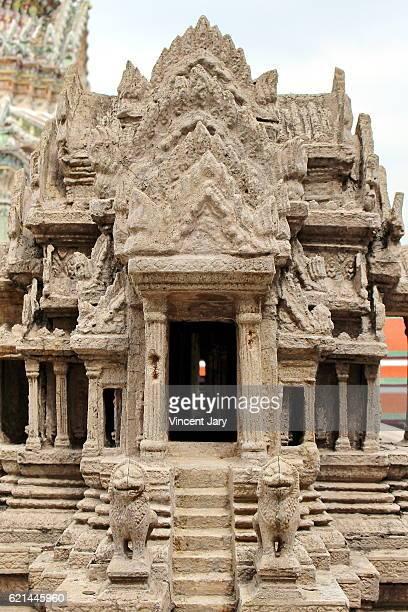 Close up of Angkor Wat at Wat Phra Kaew Bangkok Thailand