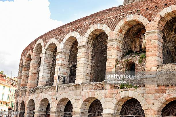 Close up of Arena di Verona amphitheater, Verona, Italy