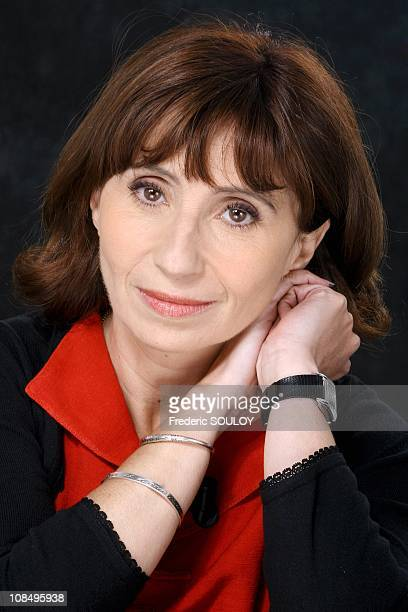 Close up of Ariane Ascaride at the 'Campus' tv talk show in Paris France on June 29 2006