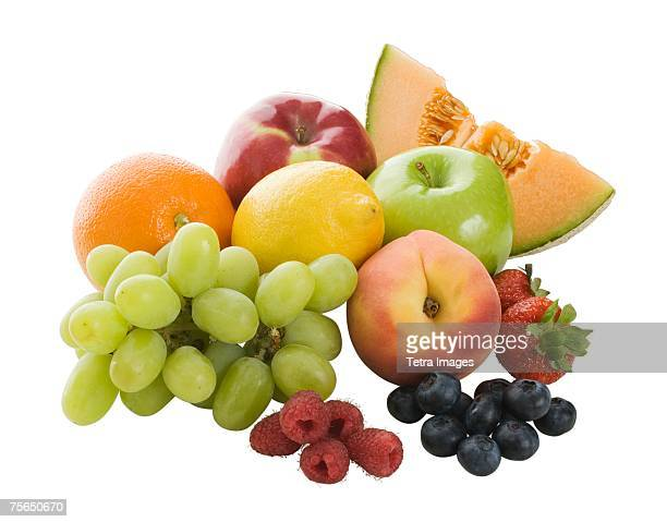 Close up of assorted fruits