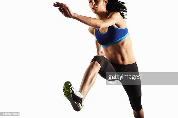 Close up of athlete running