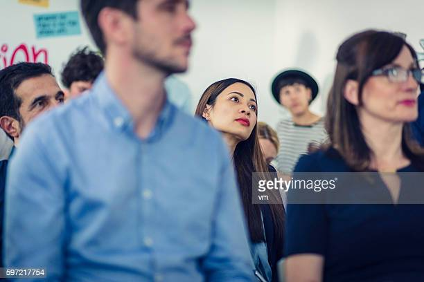 close up of audience - labor union stock pictures, royalty-free photos & images