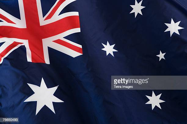 close up of australian flag - australian flag stock pictures, royalty-free photos & images
