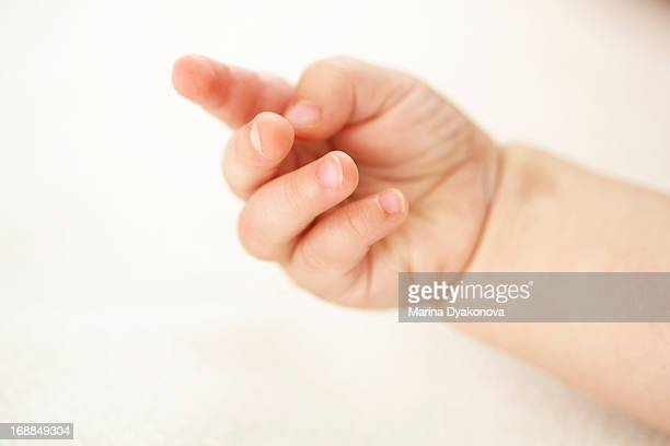 Close up of baby girls fingers