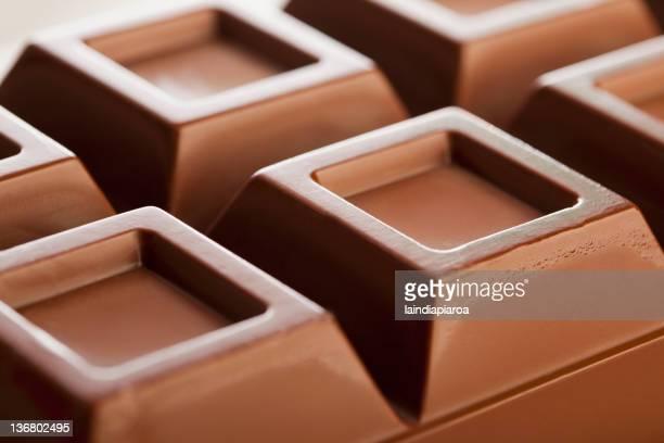 Close up of bar of chocolate