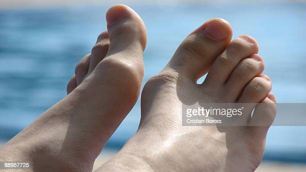 close up of bare-feet  - bortes stock pictures, royalty-free photos & images