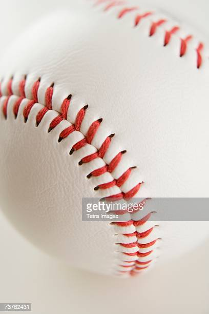close up of baseball - baseball trajectory stock photos and pictures