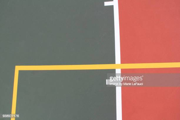 Close up of basketball court lines