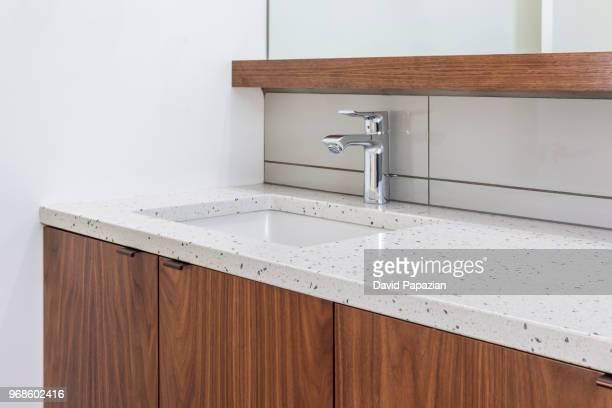 close up of bathroom interior