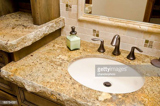 Close up of bathroom sink