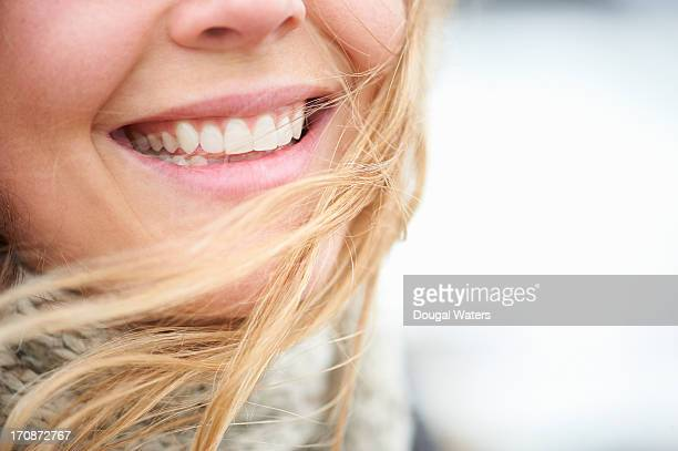 Close up of beautiful smile.