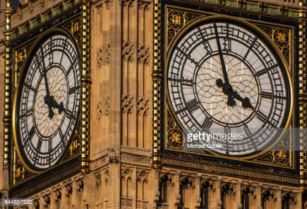 Close up of Big Ben clock face