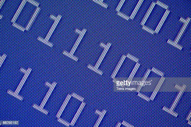 Close up of binary code