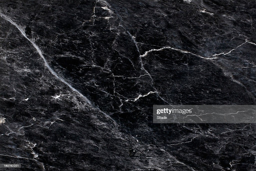 Close Up Of Black And White Marble Textured Surface ...