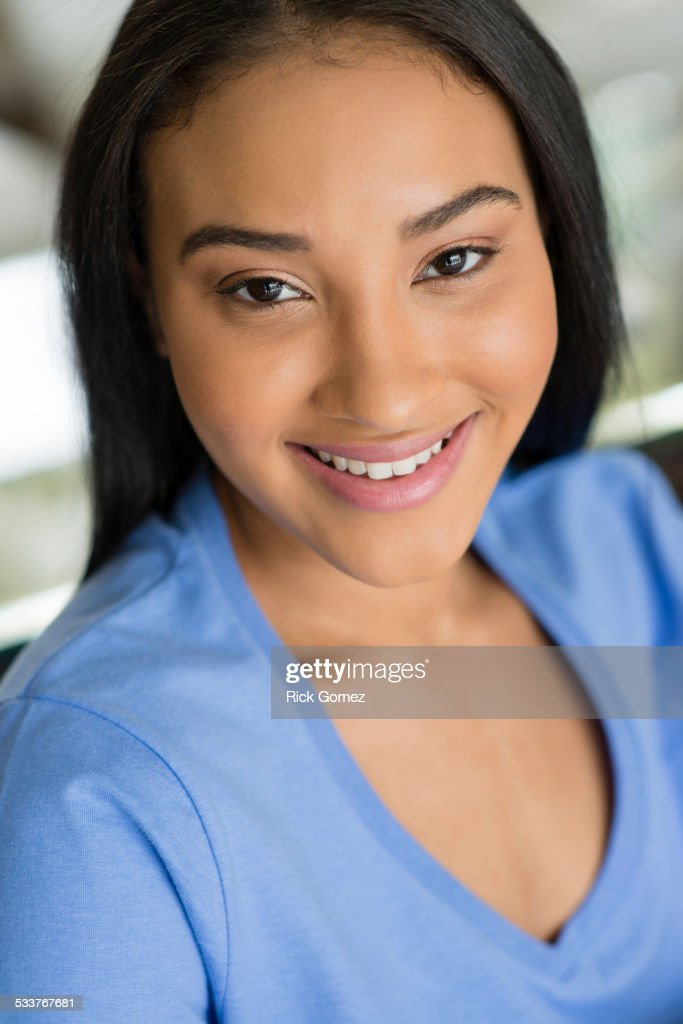 Close up of Black woman smiling : Foto stock