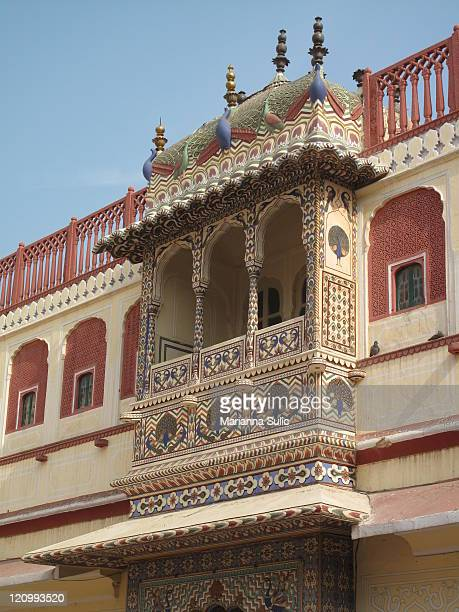 Close up of blacony of City Palace