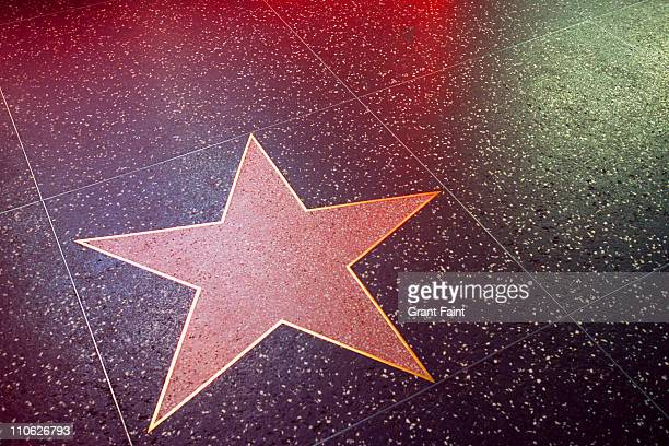 Close up of  blank Hollywood star.