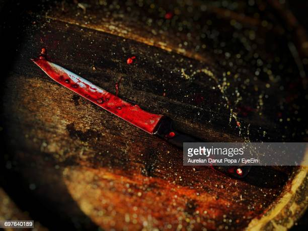 close up of bloody knife - murder stock pictures, royalty-free photos & images