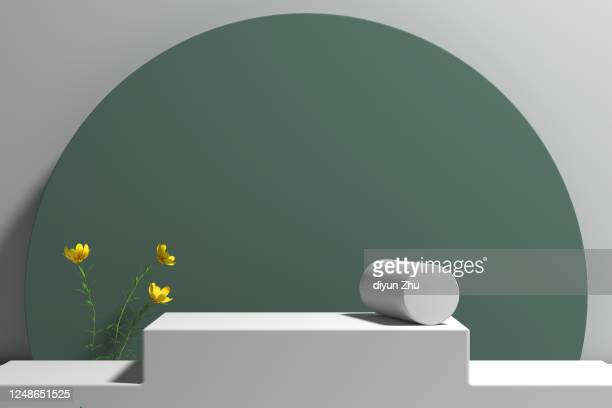 close up of booth 3d rendered - kulisse bühne stock-fotos und bilder