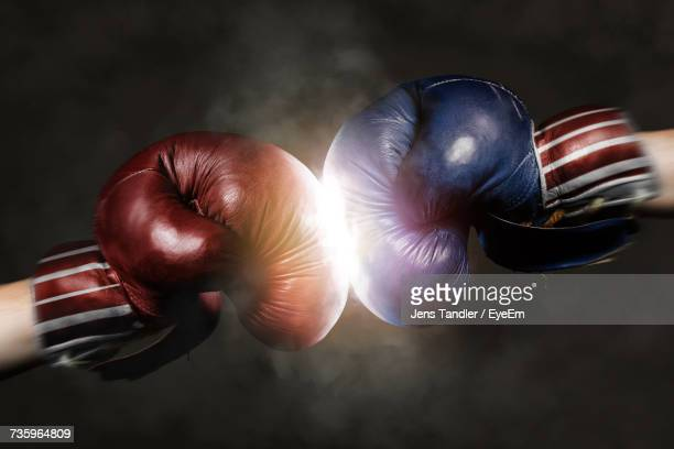 close up of boxing gloves - republican party stock pictures, royalty-free photos & images