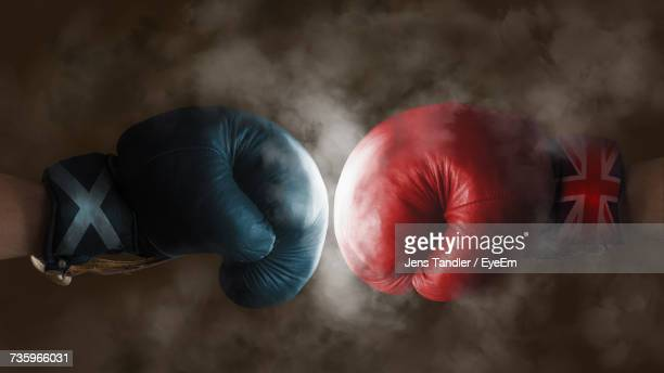 close up of boxing gloves - boxing gloves stock photos and pictures