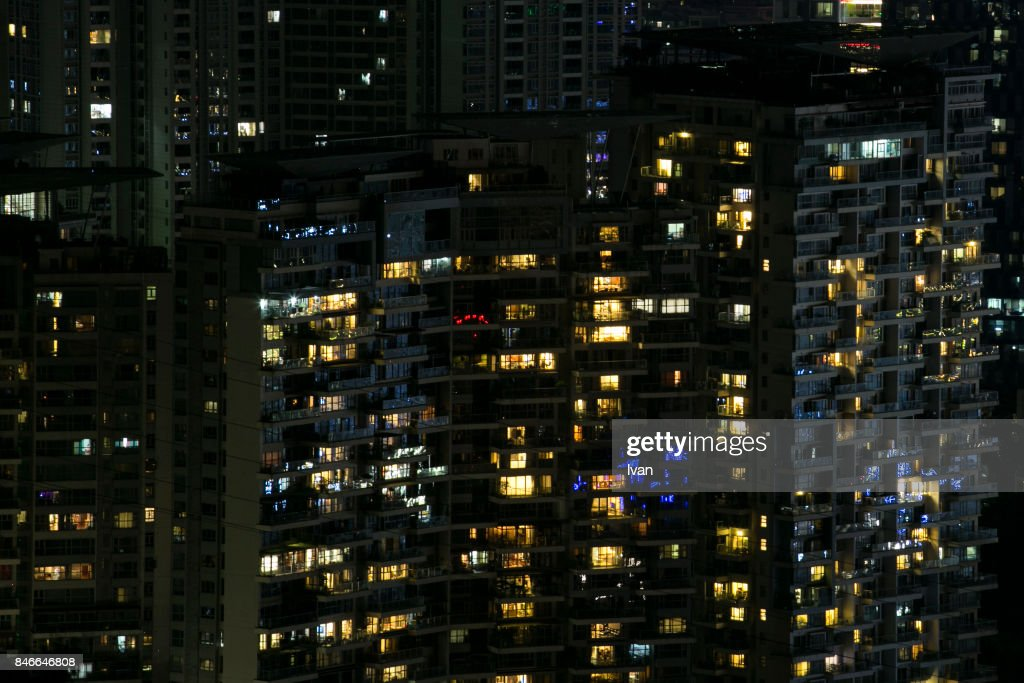 city building windows. Close Up Of Bright Windows High Building Apartment At Night City Nightview  Stock Up Of At Home Design Plan
