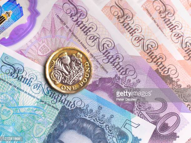 Close up of British Currency on September 16,2020 in London,England.