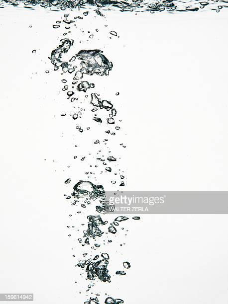 Close up of bubbles in water