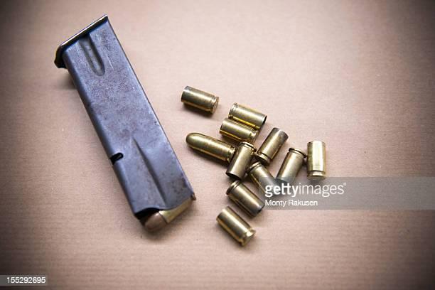 Close up of bullet casings