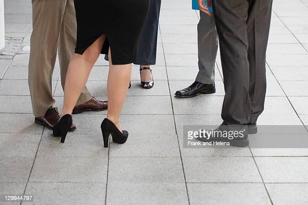 Nahaufnahme des business people's Schuh