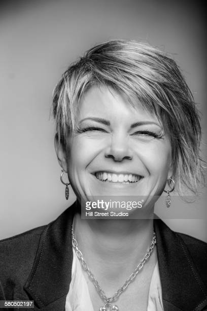 Close up of businesswoman smiling