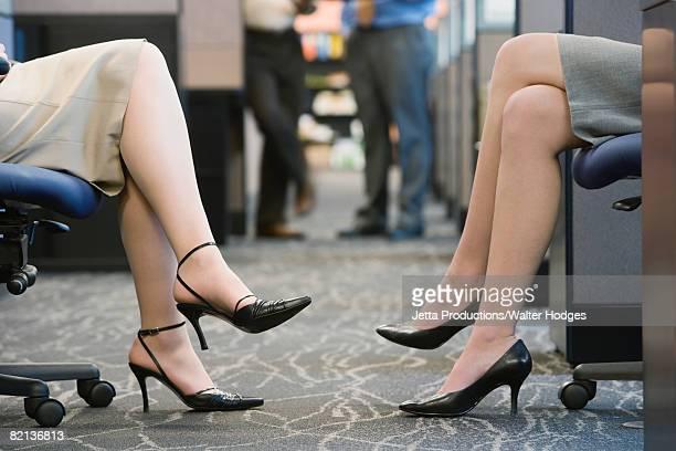 close up of businesswomen?s legs - ハイヒール ストックフォトと画像