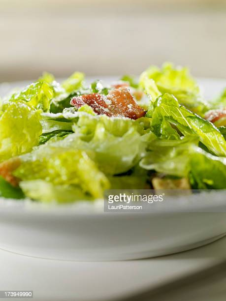 Close Up of Caeser Salad