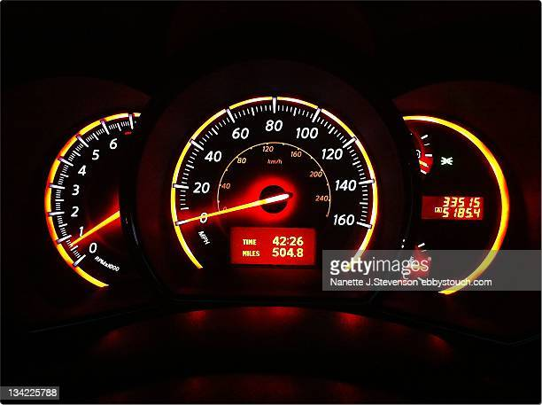 close up of car dashboard - nanette j stevenson stock photos and pictures