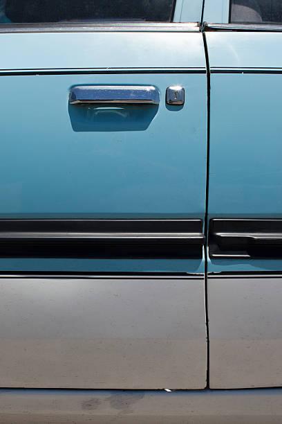 Close up of car door