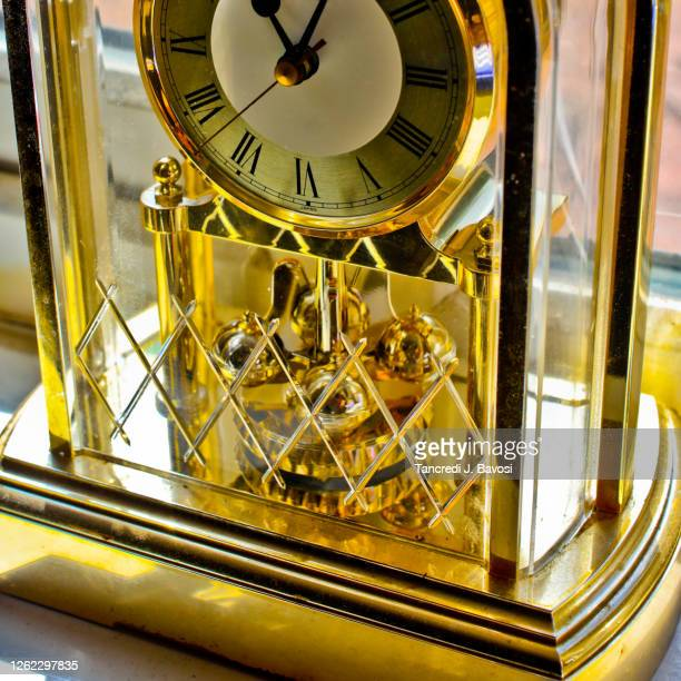 close up of carriage clock - bavosi stock pictures, royalty-free photos & images
