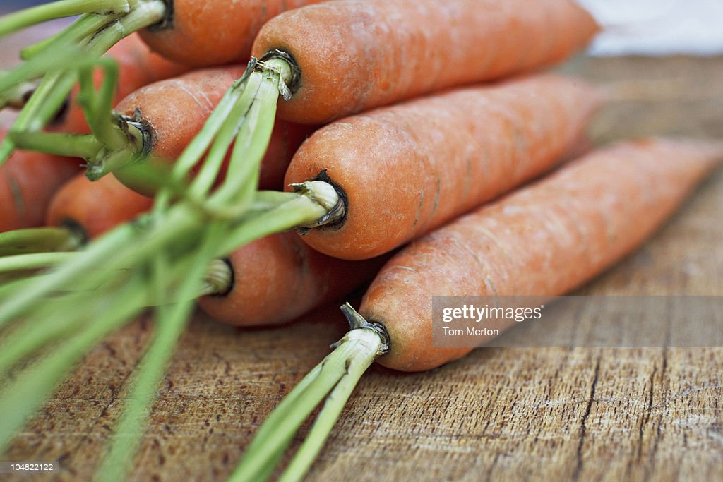 Close up of carrots : Bildbanksbilder