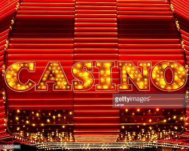 Close up of casino marquee sign