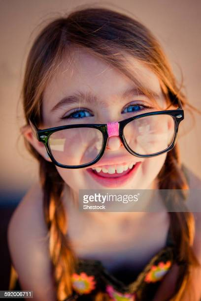 close up of caucasian girl wearing eyeglasses - concord california stock pictures, royalty-free photos & images