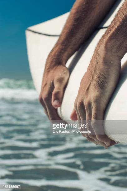 Close up of Caucasian man's hands