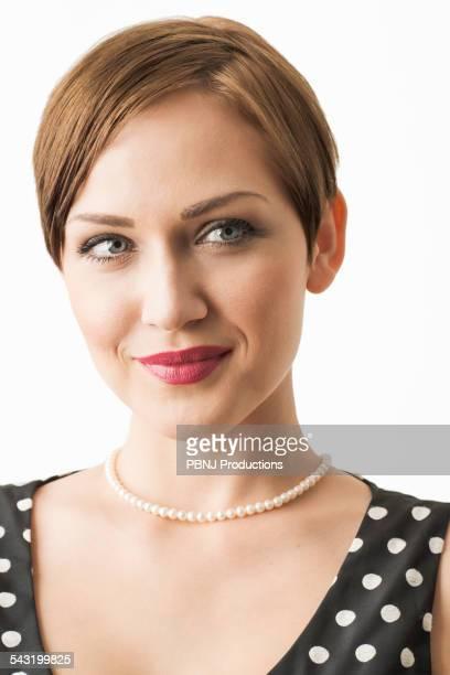 Close up of Caucasian woman smiling