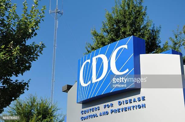 primo piano del cdc-segnale inglese - centro per il controllo e la prevenzione delle malattie foto e immagini stock