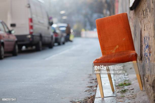 close up of chair - curb stock pictures, royalty-free photos & images