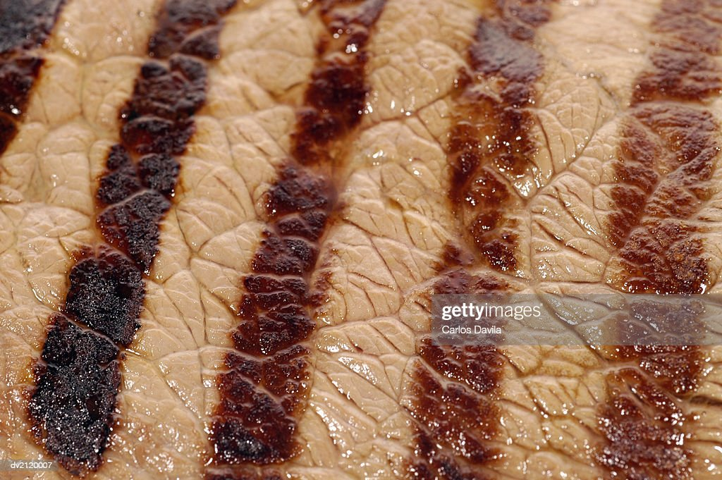 Close Up of Chargrilled Meat : Stock Photo
