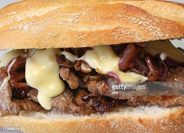 close up of cheesesteak sandwich - submarine sandwich stock pictures, royalty-free photos & images